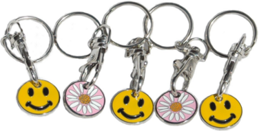 Trolley Tokens with Keyrings